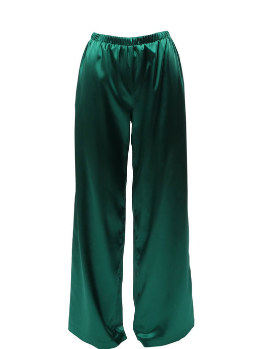 Nudist Emerald Green Palazzo Pants