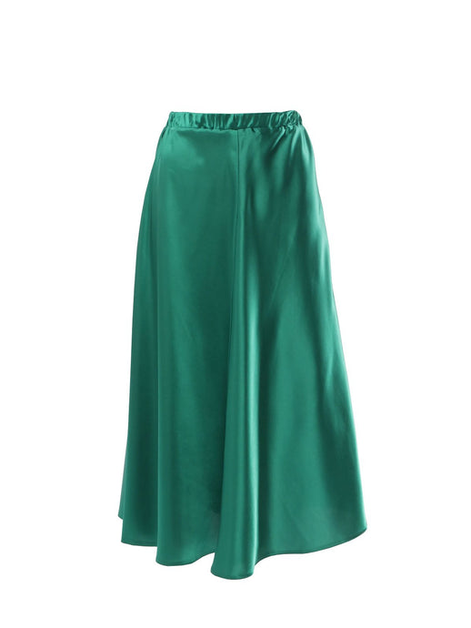 Nudist Emerald Green Midi Skirt