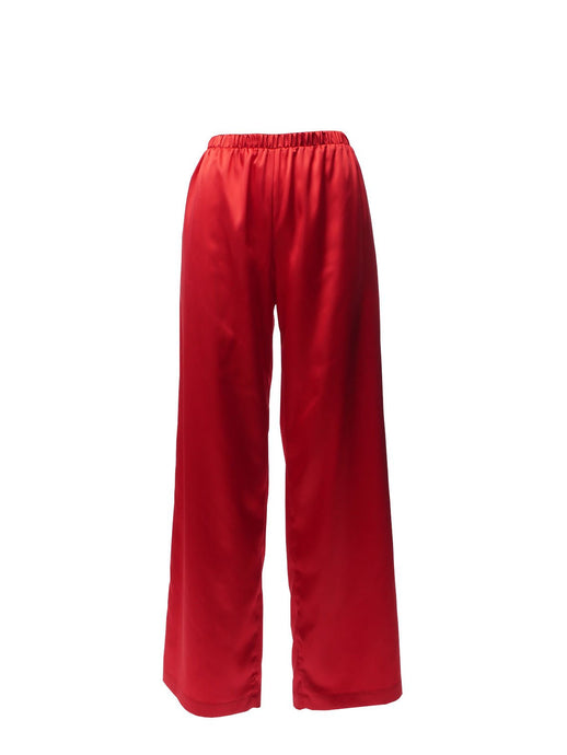 Nudist Deep Red Palazzo Pants