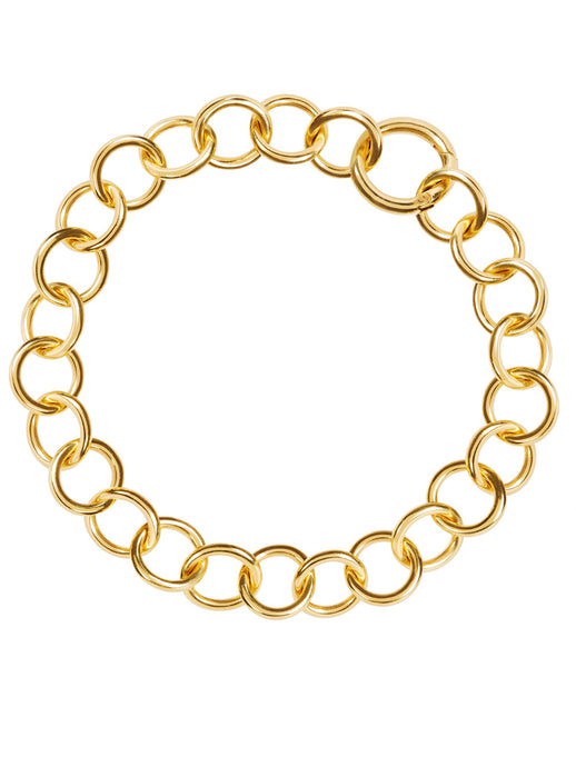Amadeus Nudo Thick Gold Chain Choker Necklace - LDC