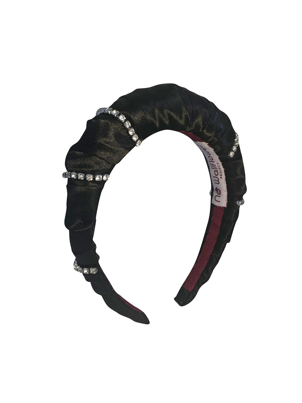 No Wallflower Project Satin Diamante Headband in Black