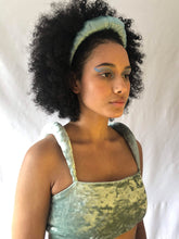 No Wallflower Project Satin Ruffle Headband in Mint