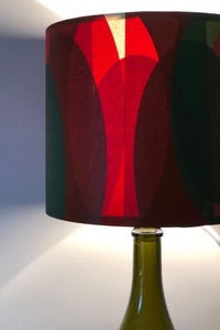 Orange and Green abstract Lampshade - Bianca Elgar