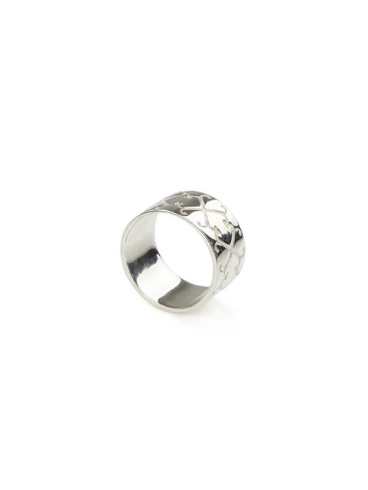 Logo Ring  in Sterling Silver
