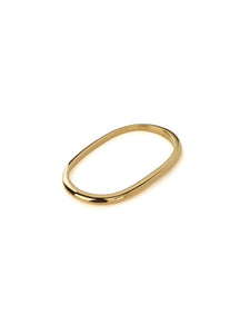 Pure Double Ring  in 18ct Gold Vermeil