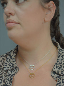 layered enso necklaces