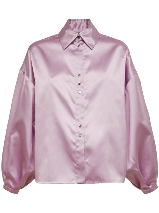 Soft Shoulders Shirt in Mauve