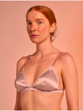Padded bralette in satin - Pink