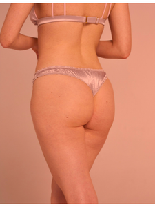 Thong in satin - Pink