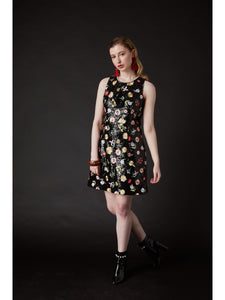 Derling Embroidered Dress Black