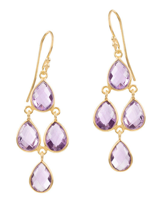 Amadeus Sophia Chandelier Earrings Amehyst - LDC