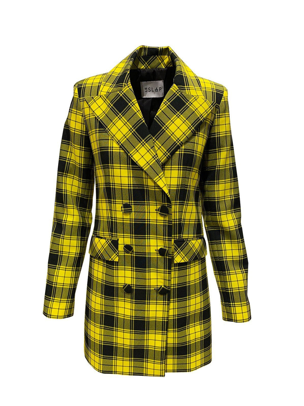 Le SLAP Warhol Yellow Check Dress/ Jacket