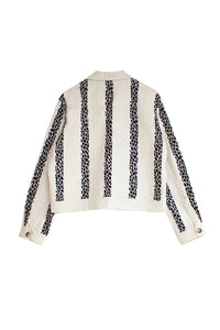 Leopard Stripe Jacket