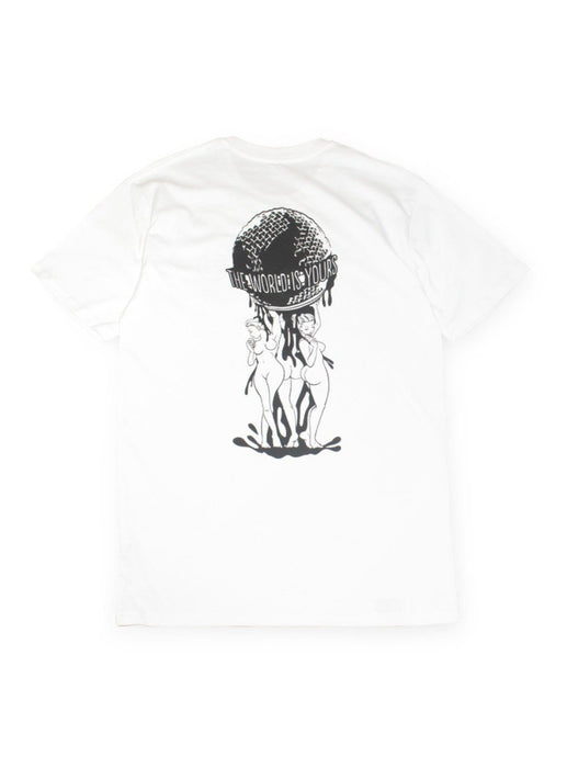 Organic Manga Cotton Tee - TWIY in White (sale)