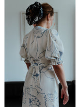White Printed Wrap Maxi Dress CLOTHING Birdsong