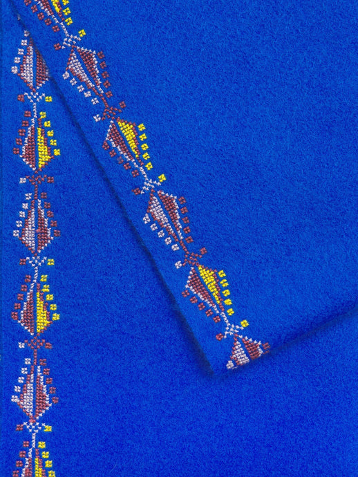 Beautiful cashmere scarf featuring traditional hand embroidery
