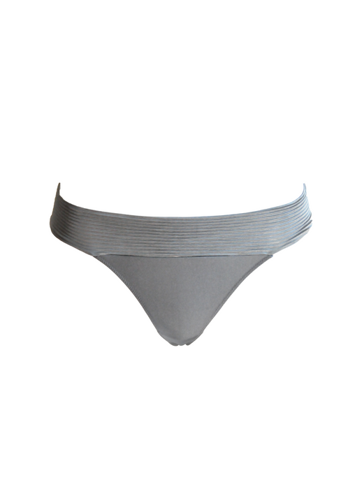 Brazilian Knickers in Plissè - Grey