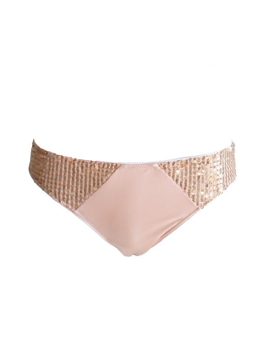 Sequin brazilian knickers Pink