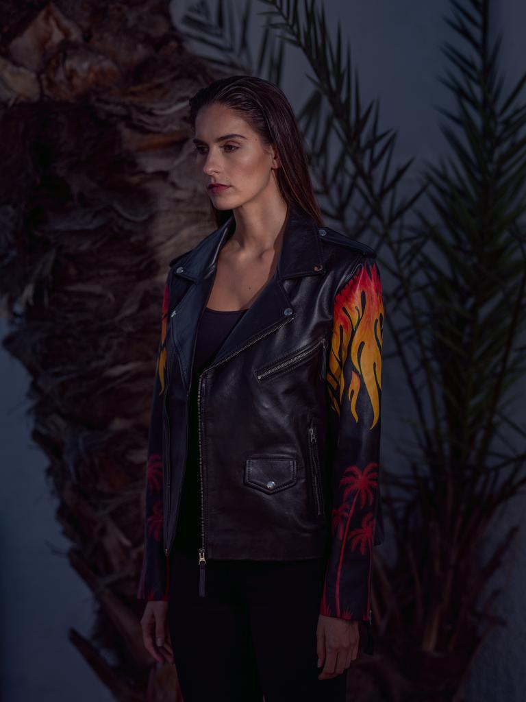 Black Flame Jacket Women's