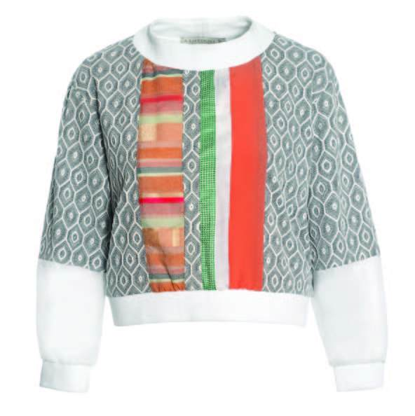 Multi Fabric Sweater