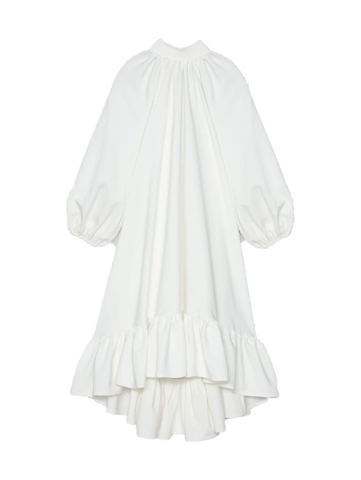 Oversized Ivory Tiered Dress