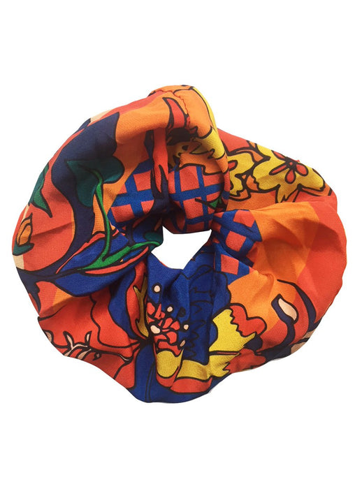 Sarah and Sorrentino Large Floral Silk Scrunchie