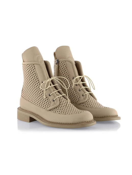 Ganor Art Boots Zelos - Beige (Perforated) leather