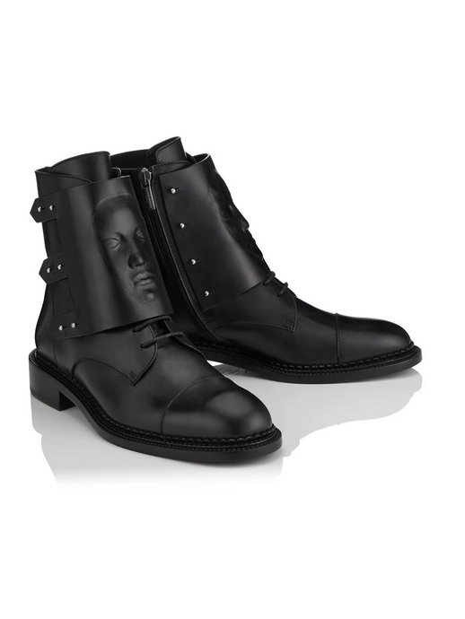 Ganor Ares black leather Boots in black
