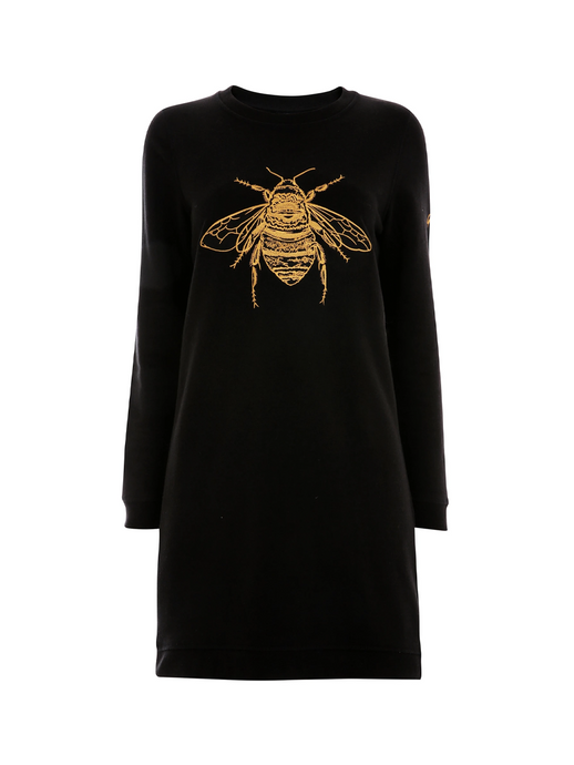 Gung Ho Bee Sweatshirt Dress embroidery