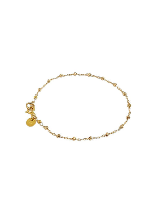 Gold Oval Ball Chain Bracelet