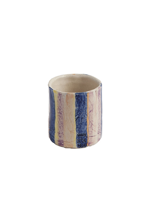 Sabinna Kana Striped ceramic Mug/Vase