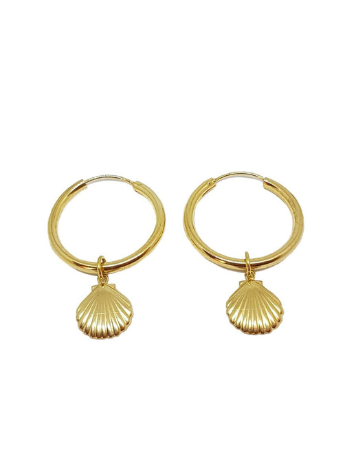 Shell Gold Earrings