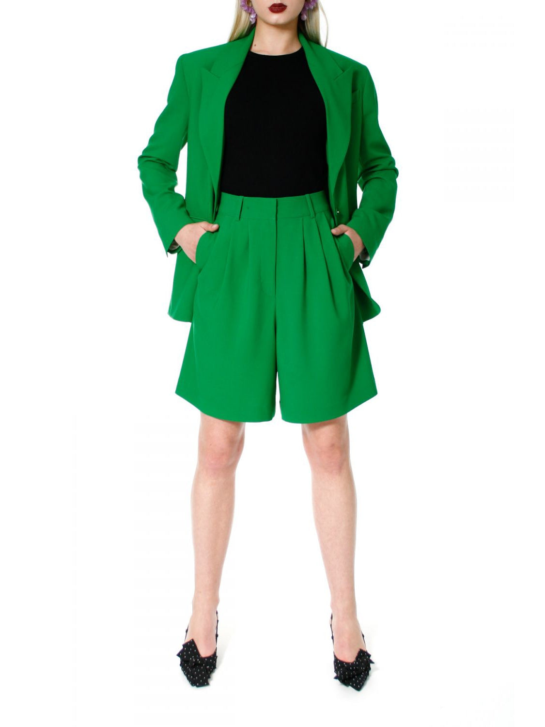 Billie Poison Green Bermuda Shorts - AGGI