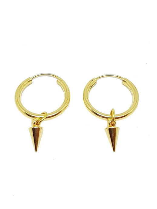 Spike Gold Earrings