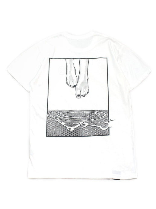 Classic Manga Cotton Tee - Levitate in White