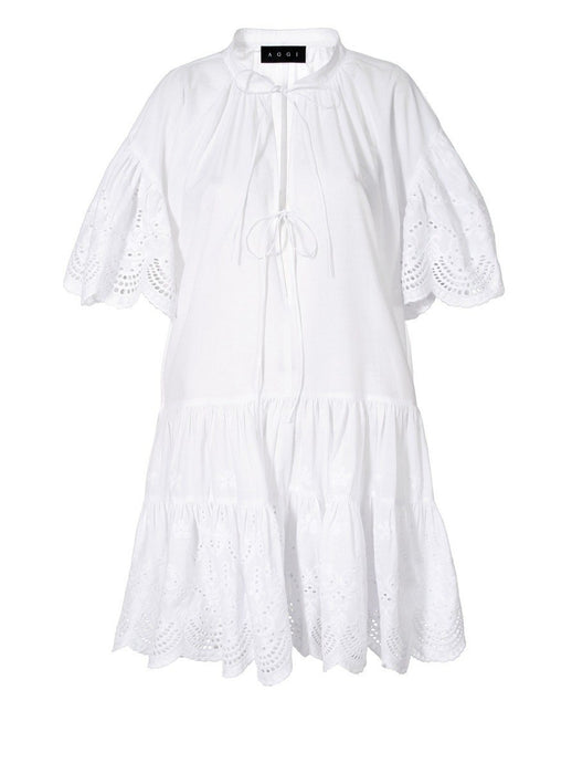 Tenneisha White Dress - AGGI