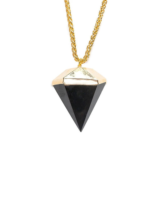 Saffire Black Onyx Diamond Pendant Necklace Zahara Collection