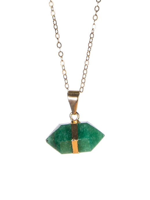 Goddess Green Quartz Gemstone Mini Necklace