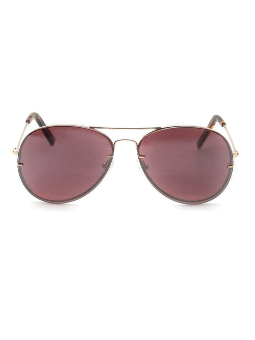 Udo rose gold metal aviator sunglasses