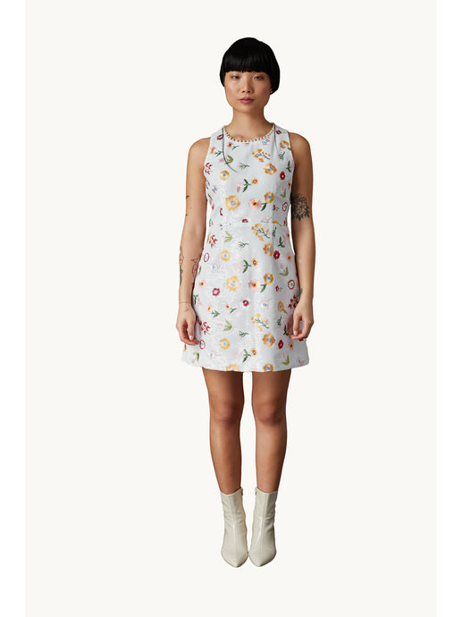 Derling Embroidered Dress White