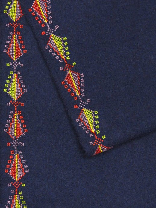 incredible pure cashmere scarf feat traditional hand embroidery pine motif
