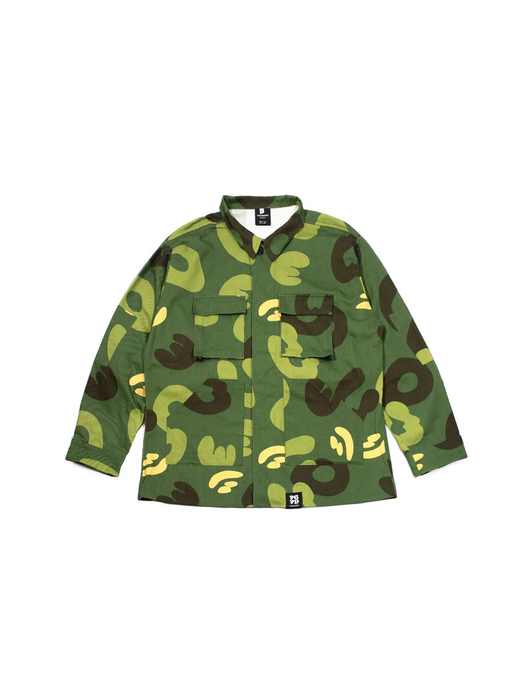 Cotton Drill Army Jacket - Original Camo