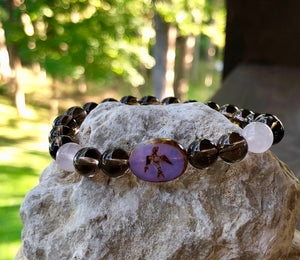 Free Spirit Smoky Quartz and Rose Quartz Bracelet
