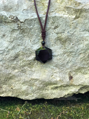 Black Obsidian Tailsman Necklace