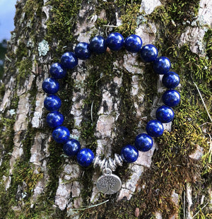 Blue Agate Tree of Life Bracelet