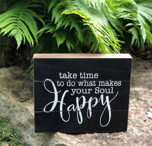 Take Time Box Sign