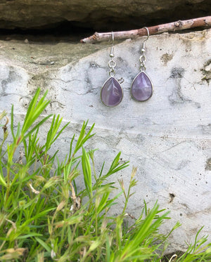 Natural Gemstone Drop Earrings