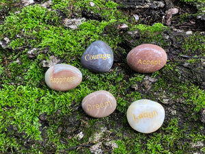 Engraved Polished River Stone Collection