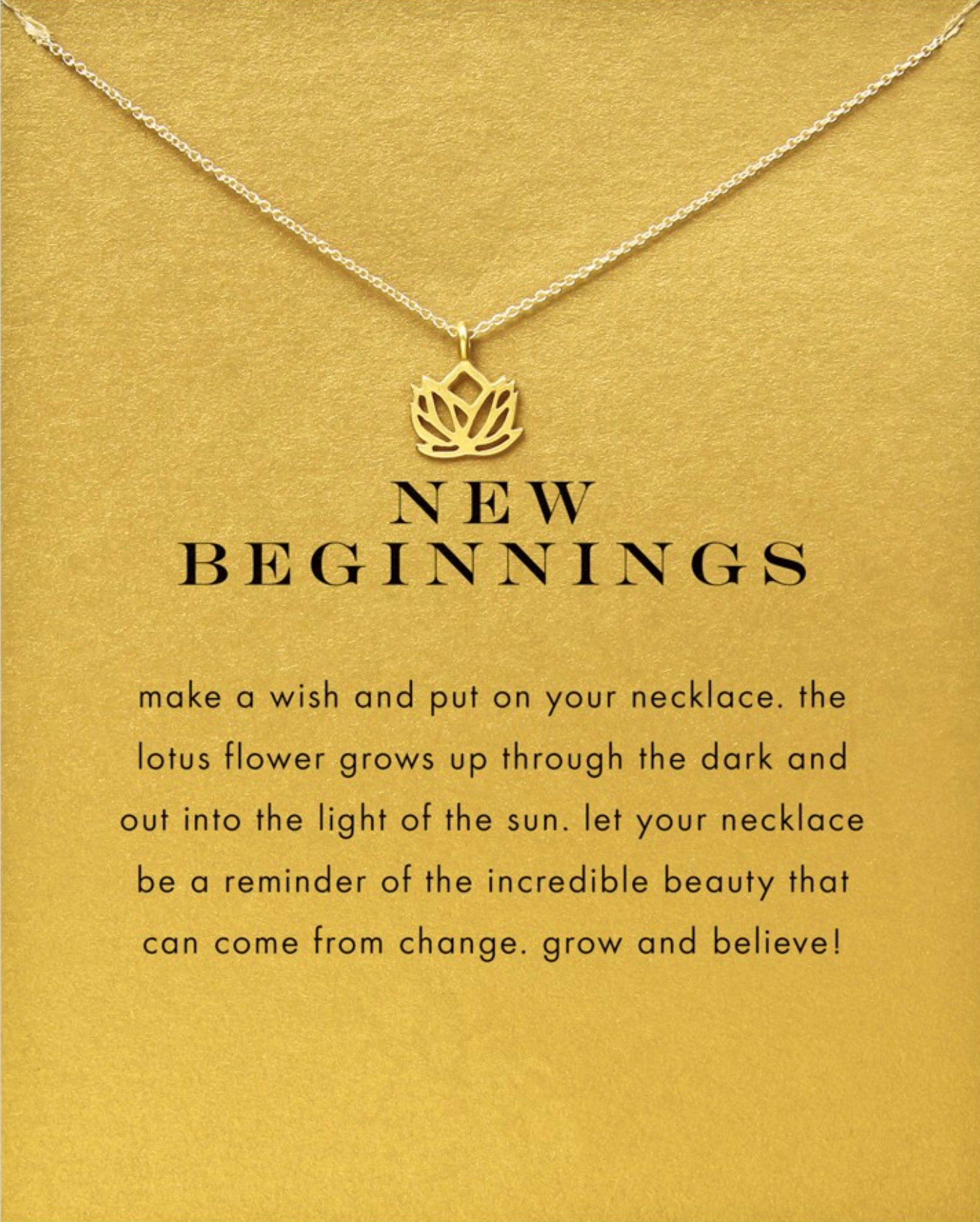 New Beginnings Lotus Necklace In Gold Or Silver Positively Me Boutique