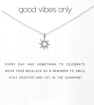 Good Vibes Necklace Gold or Silver